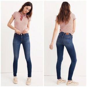 "Madewell 9"" High Rise Skinny Jeans Tall"